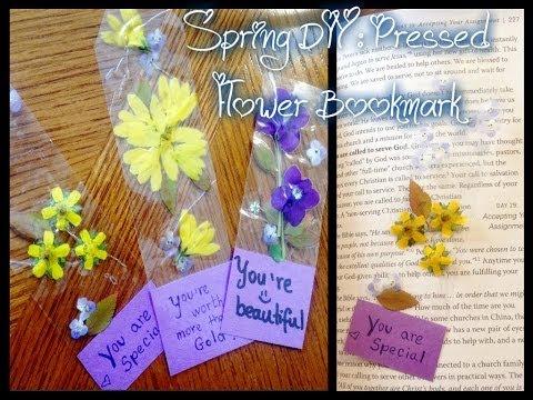 Spring DIY: Pressed flower bookmark