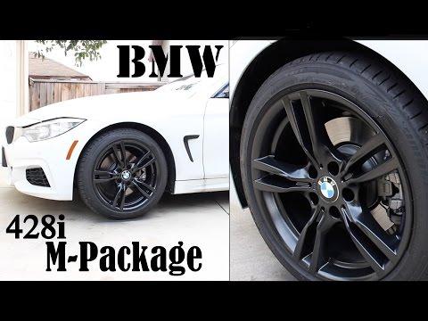2015 BMW 428i M-Package plasti dip rims with gloss diy