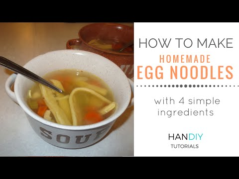 How to Make Homemade Egg Noodles Without Pasta Machine (Perfect for Chicken Noodle Soup)