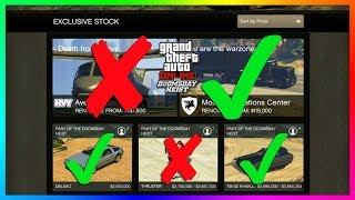 GTA Online The Doomsday Heist DLC BUYER BEWARE - Vehicles, NEW Cars & Items You Should NOT Buy!