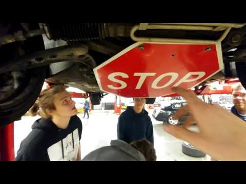 How To Make A Homade Skid Plate With A Stop Sign