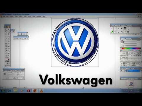 Easy and swift way to design Volkswagen logo