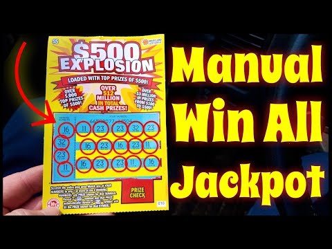 Big Fat Jackpot Winner!! NEW $500 Explosion Instant Win Maryland Lottery Scratch Off Ticket