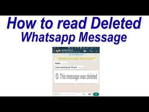 How to read Deleted Whatsapp Message | Recover Whatsapp Messages Deleted by sender