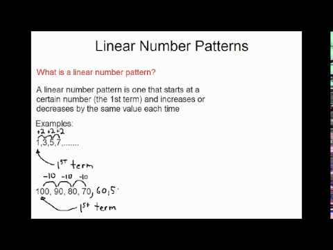 Linear Number Patterns