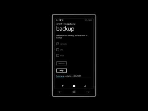 Contact Backup Window Phones to SD card Easy 2015