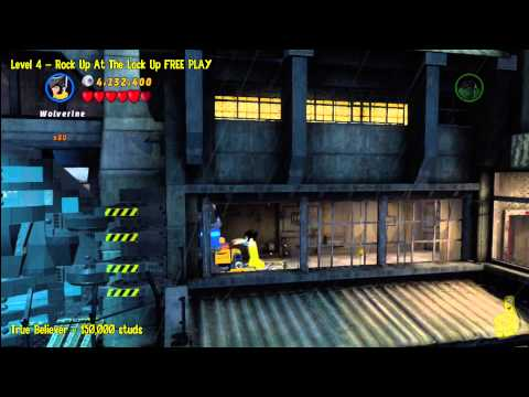Lego Marvel Super Heroes: Lvl 4 Rock Up At The Lock Up - FREE PLAY (Minikits & Stan In Peril) - HTG