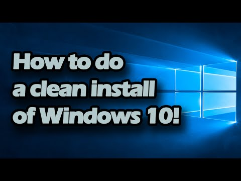 How to do a clean install of Windows 10 (Simple beginner professional steps)