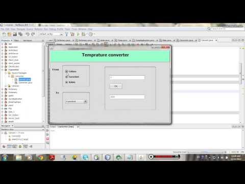 GUI Temperature Converter Application Program in java Using netbeans.