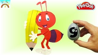 Play-doh  how to make (Cute red Ant) - kids video