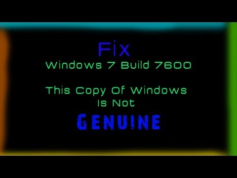 How To Fix Windows 7 Build 7600 This Copy Of Windows Is Not Genuine - HD