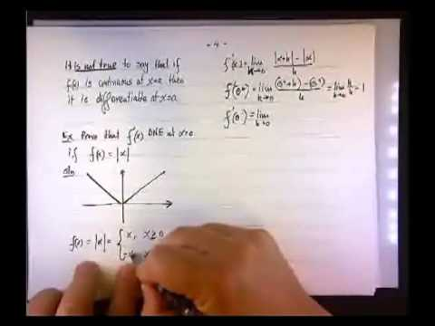 The Derivative of the Absolute Value Function at x = 0.mp4
