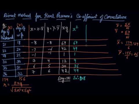 Direct Method for Karl Pearson's Coefficient of Correlation | Class 11 Economics Collection of Data