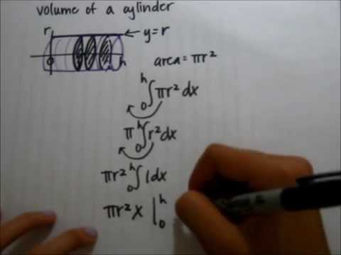 Deriving the Equation for the Volume of a Cylinder