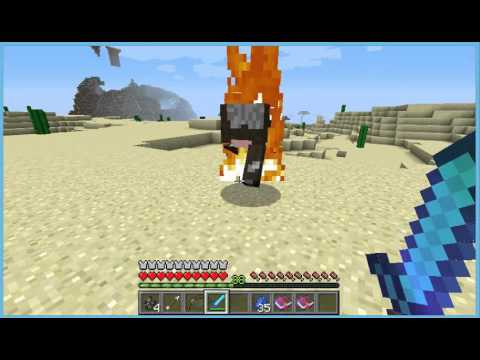 How to make a flame sword and a fire bow and infinity arrow