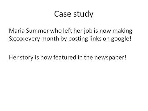 make money posting links on google - featured in newspaper!