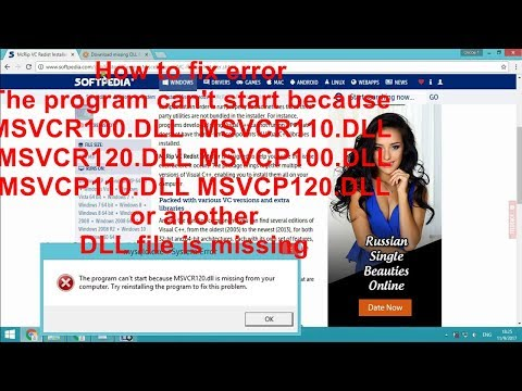 How to fix error The program can't start because DLL file is missing