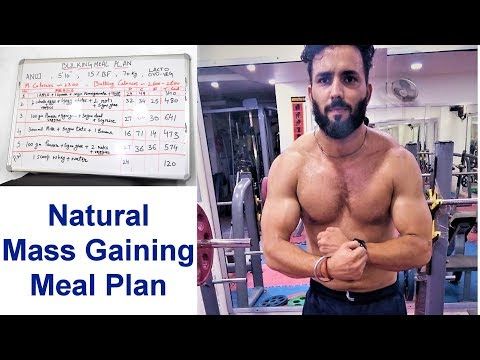 Indian Bodybuilding Bulking/ Weight Gain Meal बॉडी बनाने का  Plan for gaining 10 kgs |  हिंदी