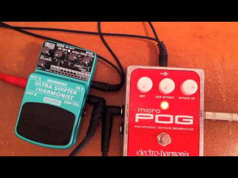 Behringer US600 compared to EHX Micro Pog, pitch shift comparison