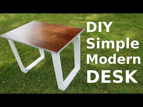 DIY Simple Modern Style Desk