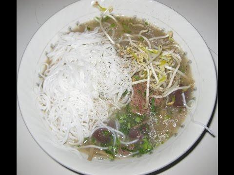 Pork Congee (CHAO GAN & HUYET HEO) - pork liver, pork blood curd