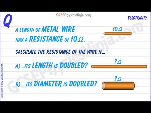 Wire Resistance Calculation - Electrical Physics Tutorial