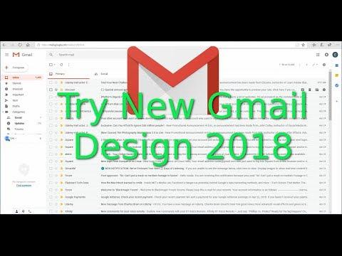 Gmail New Design 2018