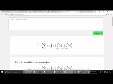(PHP - Jquery)Make website like quara , This video will help you post latex(Maths) Questions