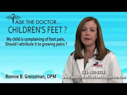 Is Child Foot Pain Growing Pains?  North Lauderdale, Coconut Creek, FL - Podiatrist Ronnie Greissman