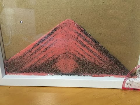 Sand experiment 1: angle of repose