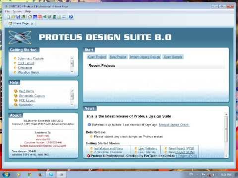how to installe  PROTEUS8 circuit diagram designing software