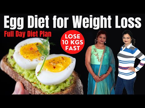 How to Lose Weight Fast – 7 Kg in 7 Days | 1000 Calorie Egg Diet Plan for Easy Weight Loss