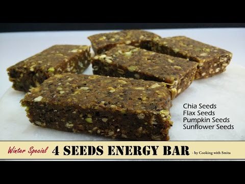 4 Seeds Energy Bar Recipe in Hindi by Cooking with Smita | How to make Energy Bars | Winter Special