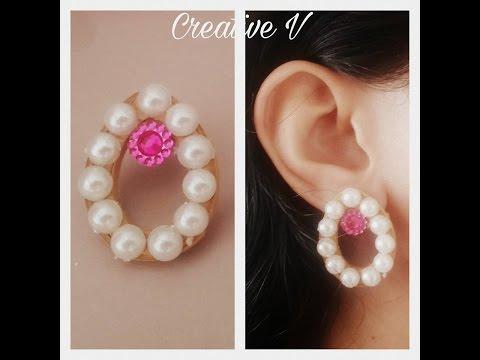 How to make quilling stud earrings / Paper earrings / Design 8 / Tutorial / #58