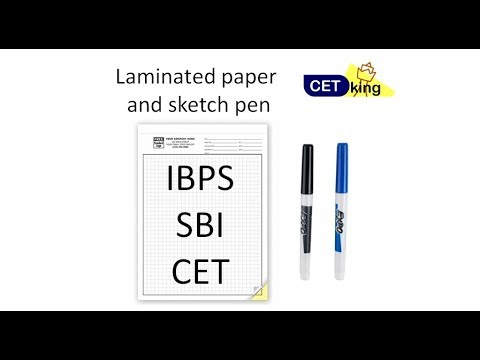 Laminated sheet marker for rough work expected in CET IBPS SBI PO now