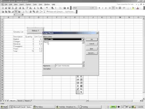 Excel 2003:  How to create a macro button in excel