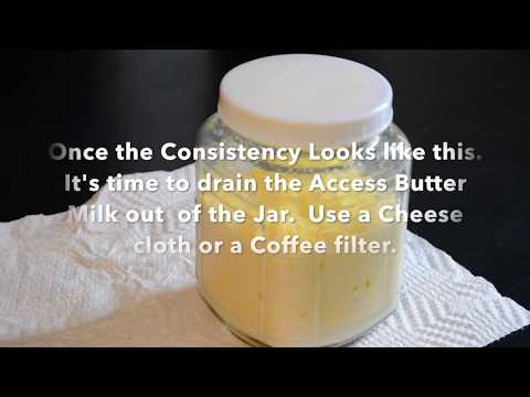 HOW TO EASILY MAKE RAW BUTTER FROM UNPASTEURIZED RAW A2A2 MILK Guernsey Goodness!!!