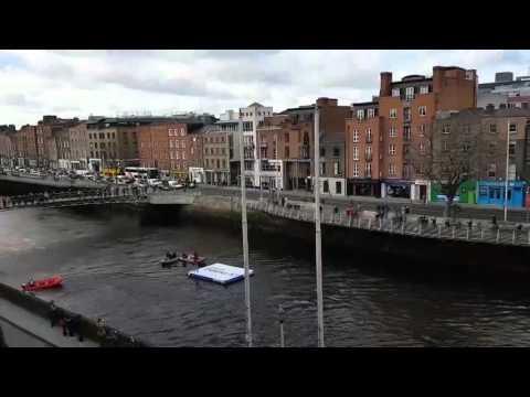 Jetpack Pilot Flies Over Dublin City