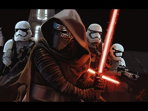 Star Wars - The Force Awakens   Digital Painting   Photoshop Time Lapse Tutorial   Speed Drawing