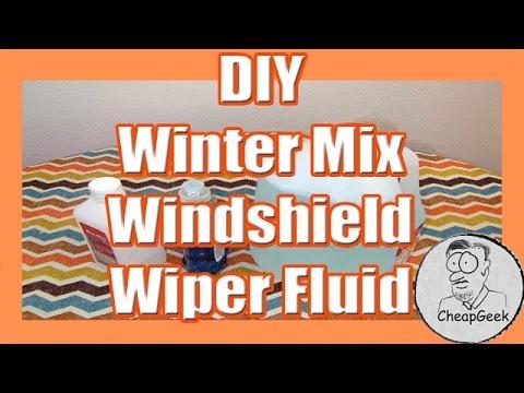 DIY Windshield Wiper Fluid- Winter Mix