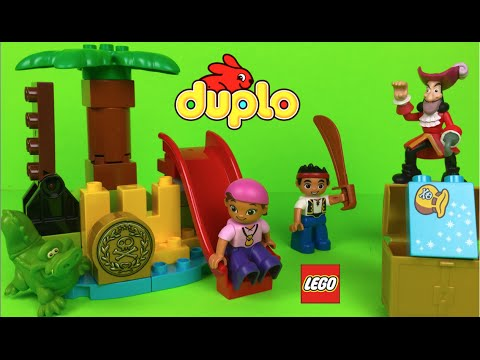 Lego Duplo Jake & the Never Land Pirates Treasure with Tick Tock the crocodile the best Pirate Toys