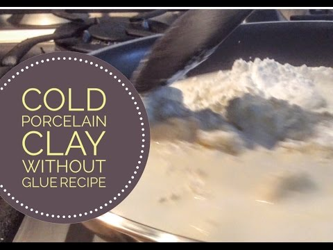 Better than Salt Dough: Cold Porcelain Clay Without Glue Recipe