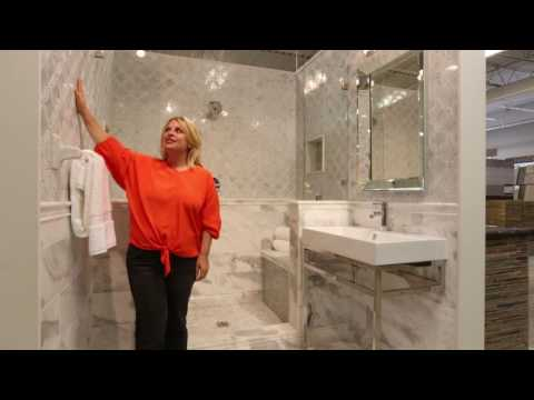 Bathroom Tile Ideas - Mosaic Wall Tile Design by The Tile Shop