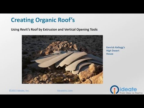 Revit Architecture: Creating Organic Roofs with the Extrusion and Vertical Opening Tools