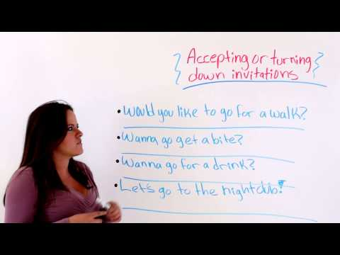 ESL Lesson: Being Polite -- Accepting And Rejecting Invitations
