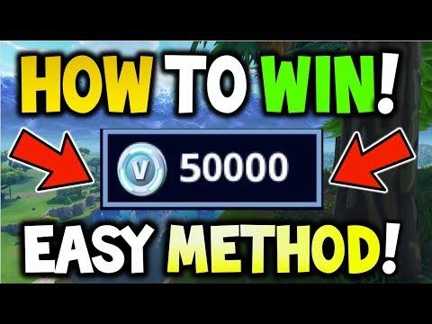 HOW TO WIN *50,000 V-BUCKS* FOR FREE! - Fortnite Solo Showdown! - HOW TO WIN SHOWDOWN FREE V-BUCKS!