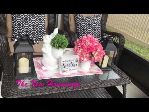 Tiny Back Porch Mini-Makeover Before and After Video!