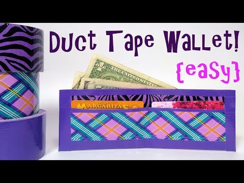 EASY Duct Tape Wallet Tutorial!
