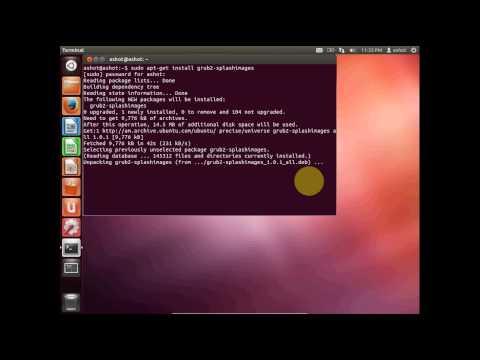 Ubuntu. How to set grub background