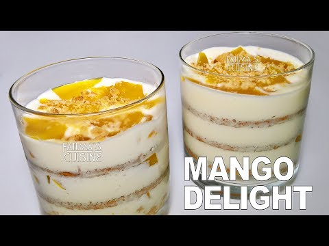 Mango Float Pudding | Mango Delight Dessert Recipe | Quick Layered Pudding Dessert Recipe